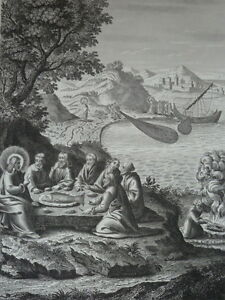 Jesus-Christ-Eats-with-Ses-Disciples-Sea-of-Galilee-Gravure-of-1863