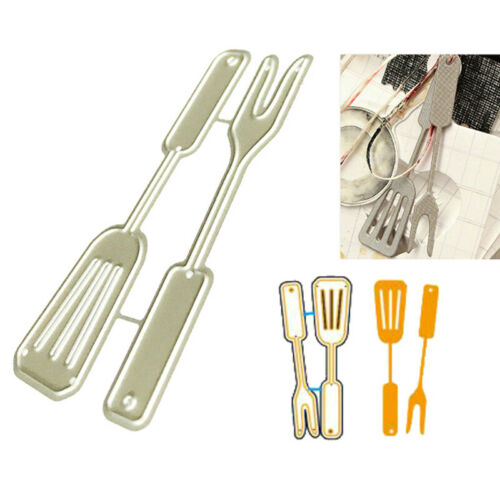 Kitchen Spoon Fork Metal Cutting Dies for DIY Scrapbooking Paper Card Dec X