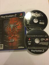 2 x PLAYSTATION 2 PS2 GAMES DC BATMAN VENGEANCE + SPIDER-MAN 3 / SPIDERMAN III
