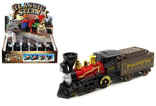 PanDimensione De Tren Clásico Locomotora de vapor Pacific Railway & New York Central 12 piezas