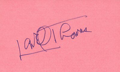 Lowell Thomas Actor Writer 1976 Waldorf Tv Movie Autographed Signed Index Card 100% Original Movies