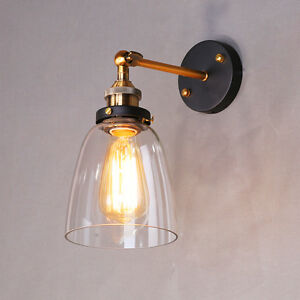 Image is loading Swing-Arm-Wall-Lights-Bathroom-Glass-Wall-Sconce- & Swing Arm Wall Lights Bathroom Glass Wall Sconce Kitchen Wall Lamp ...