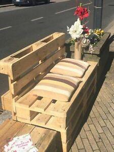 Panchina con bancali modulo 120x50 arredamento design ebay for Panchine con bancali