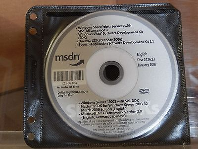 Software English Dashing Msdn Disc 2426.23 January 2007 Computers/tablets & Networking