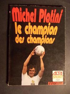 MICHEL-PLATINI-LE-CHAMPION-DES-CHAMPIONS-Football-ALTA-SPORT-L-039-EQUIPE-1978-TBE