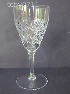 VAL-ST-LAMBERT-CRYSTAL-SIMONE-PATTERN-6-034-WINE-GLASSES