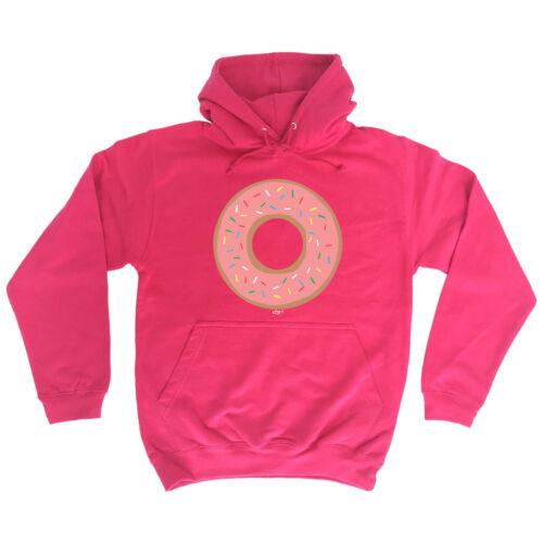 Funny Novelty Hoodie Hoody hooded Top Donut