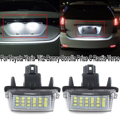 2X 18LED License Plate Light For Toyota Camry Prius Yaris Vitz Avensis 6000K