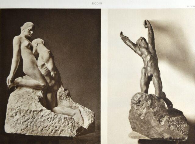 HELIOGRAVURE Auguste RODIN L'ETERNELLE IDOLE et L'ENFANT PRODIGUE marbres L'ART