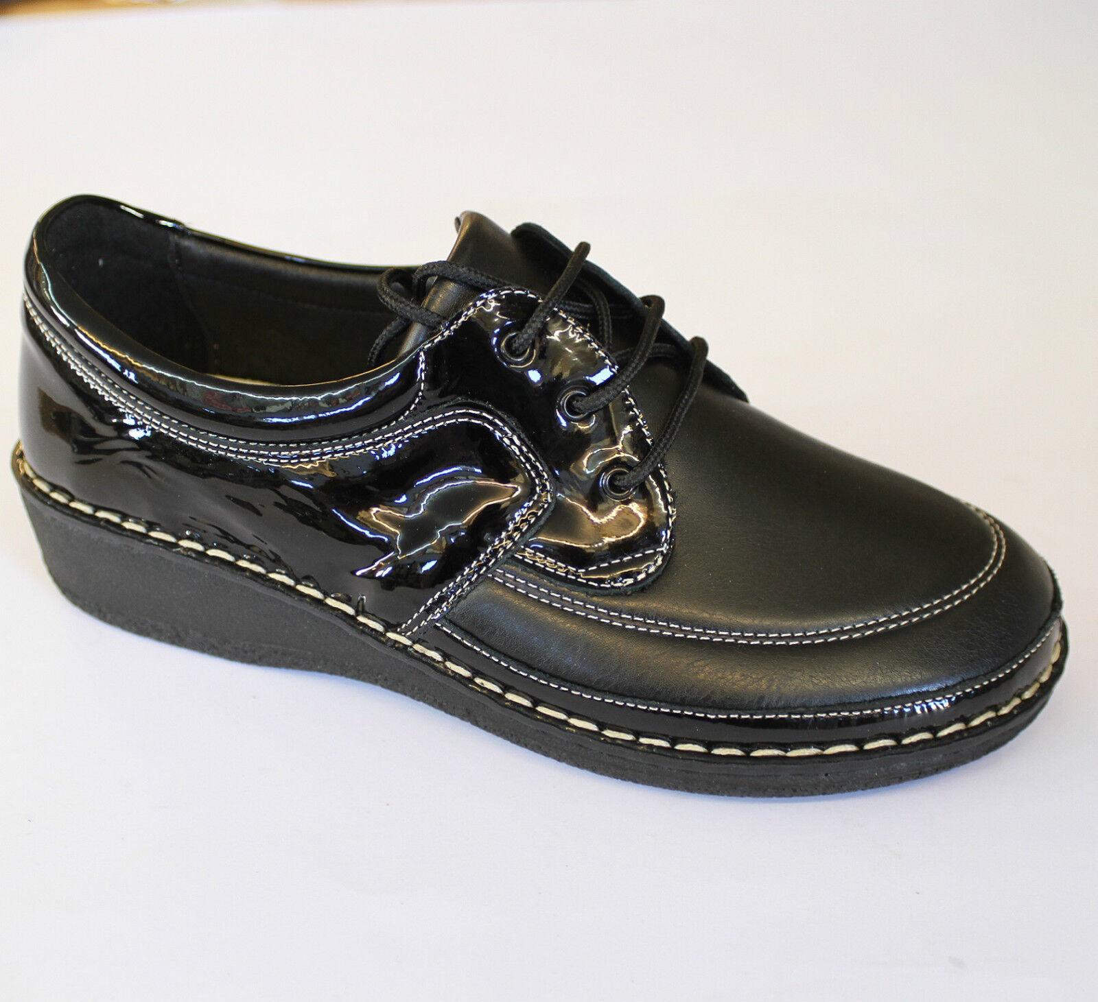 CINZIA SOFT scarpa DONNA  plantare anatomico estraibile lacci Italia DONNA scarpa nero 2380M d83383