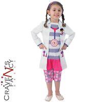 Child Disney Doc Mcstuffins Fancy Dress Costume Book Week Doctor Kids Girls New