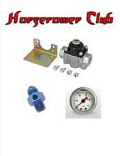 Quick Fuel 30-803 Holley Fuel Pressure Regulator Gauge Adapter Liquid Filled BLU