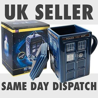 Official Genuine Licensed Dr Doctor Who Tardis Mug With Removable Lid