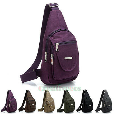 Unisex Casual Nylon Travel Hiking Motorcycle Bicycle Messenger Sling Chest Bag
