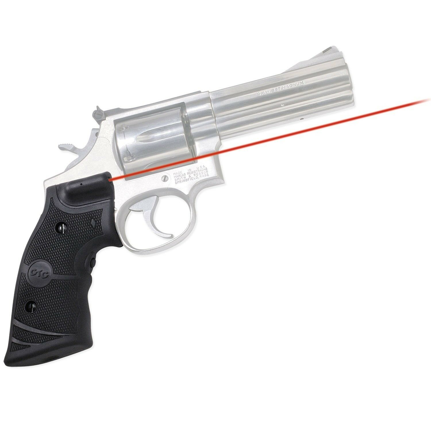 CRIMSON TRACE LG-308 RED LASERGRIPS FOR SMITH & WESSON K AND L FRAMES ROUND BUTT