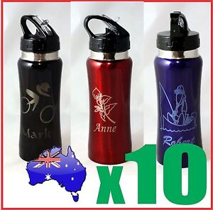 Image Is Loading 10x Customised Personalised Water Drink Bottle Name Logo