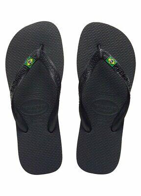 Ciabatte Infradito Havaianas - Brasil - Col. Nero / Logo Verde Calcolo Attento E Bilancio Rigoroso