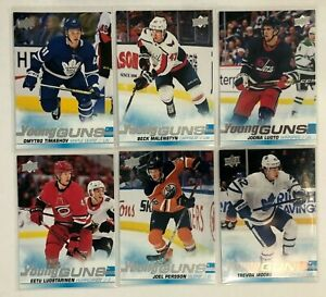 6 Card Rookie Lot 2019-20 Upper Deck Young Guns Oilers Jets Maple Leafs Carolina