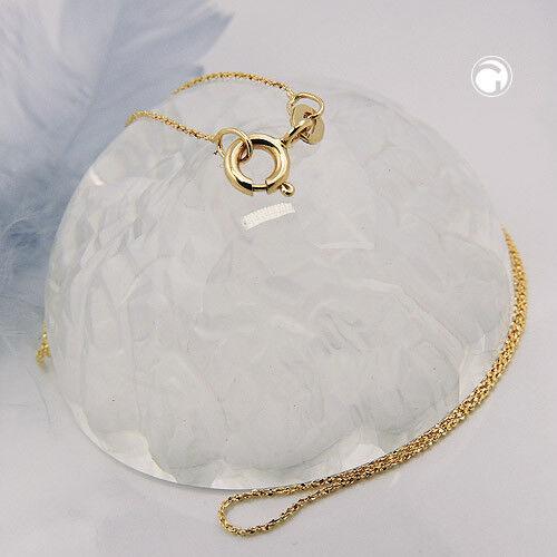 585 Gelbgold Halskette Kette 0,6mm Fantasie-Muster gedreht 14Kt GOLD 42cm
