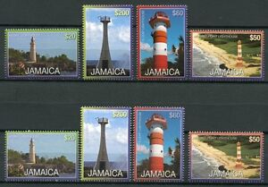 Jamaica JamaÏque 2012 Ces Phares Lighthouses Avec Et Sans Année Complet. Neuf Sans Charnière-afficher Le Titre D'origine