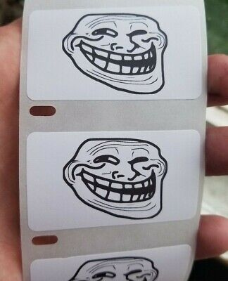 ͡° ͜ʖ ͡° LENNY FACE EMOJI GUY MEME Stickers 25-1000 Pack Gag prank meme decal
