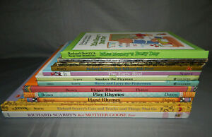 13-kids-picture-books-by-RICHARD-SCARRY-amp-MARC-BROWN-hardcover-lot-little-golden