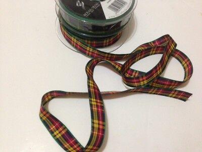 Generoso Cinta Berisfords Buchanan Tartán Escocés Diseño Aprobado - 7 10 16 25 40 70mm Blancura Pura