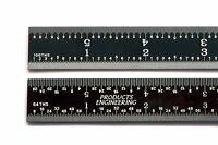 Us 6 Rigid Black Chrome Steel 16r Machinist Ruler/rule 1/64, 1/32, 1/50, 1/100
