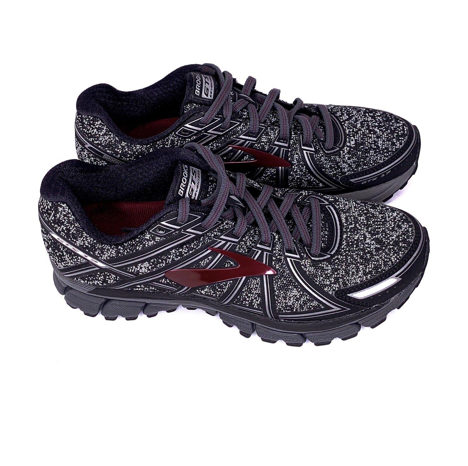 Brooks Adrenaline Gts 17 Negro Metálico Carbón Tawny Puerto Running Zapatos para hombre 8