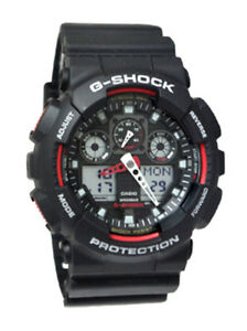 df3591ff6e6 Casio GA100-1A4 G-Shock X-Large Red Black Ana Digi Men Watch NEW