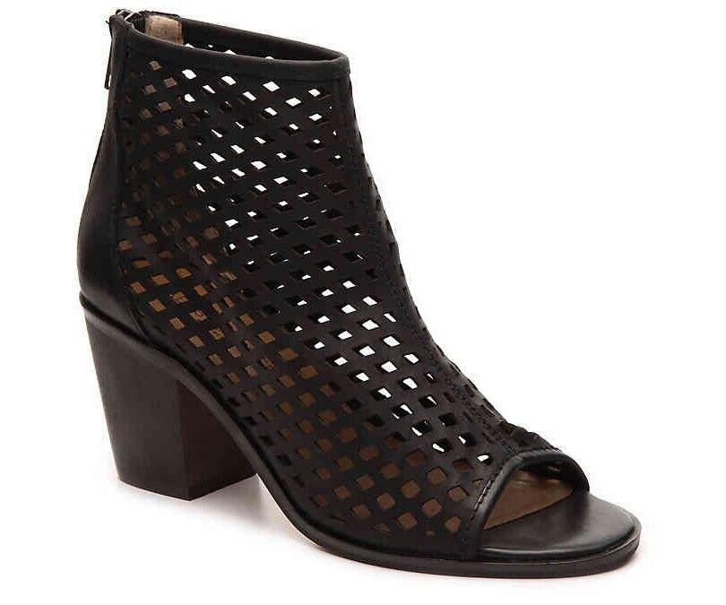 Kelsi Dagger KDB KDB KDB Kyoto Women 9.5 Black Leather Cutouts Open-Toe Heels Bootie NEW f936d0