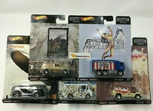 5-Car-Set-Led-Zeppelin-2019-Hot-Wheels-SET-Pop-Culture-E-Case-IN-STOCK