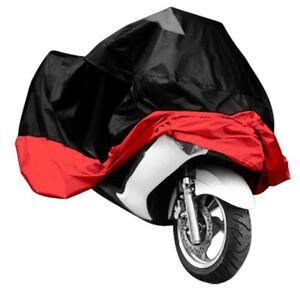 HOUSSE-BACHE-MOTO-Couvre-Moto-VTT-grande-Taille-XXXL-rouge-noir-protection-J3O6