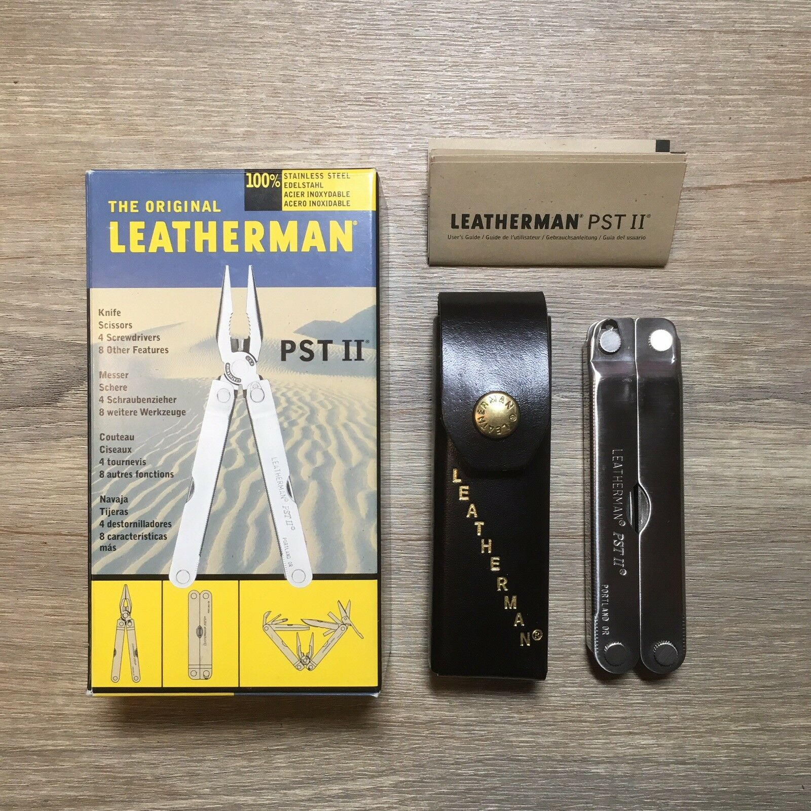 New  Leatherman PST  II Original Leather Case and Box. (Made in USA)  save 60% discount and fast shipping worldwide