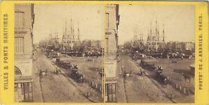 Bordeaux-Il-Havre-Francia-Foto-Stereo-Andrieu-Vintage-Albumina-c1868