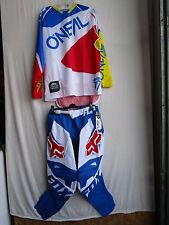 MENS combo set motocross FOX 180 RACE pants 32, HARDWEAR jersey MEDIUM blue/wht