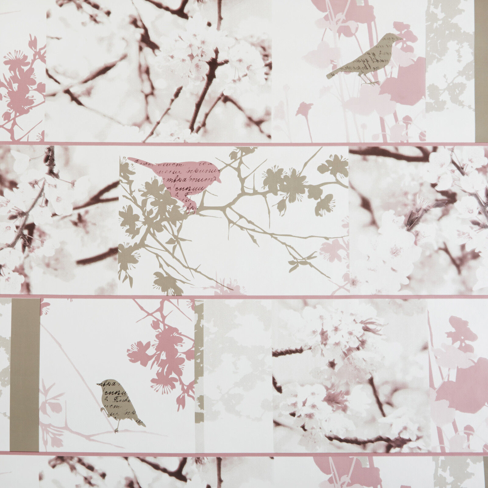 Blue Pink Birds and Butterflies Floral Wipe Clean Oilcloth Tablecloth Many Sizes