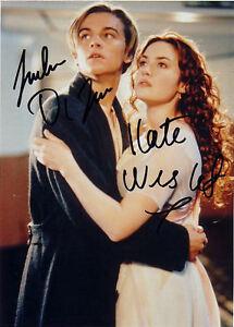 ZuverläSsig Kate Winslet & Leonardo Di Caprio Autograph ZuverläSsige Leistung Titanic Autogramm
