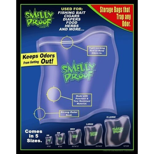 Smelly Proof Plastic Food /& Herb Storage Bags Choose Any Size XXS XS S M L XL