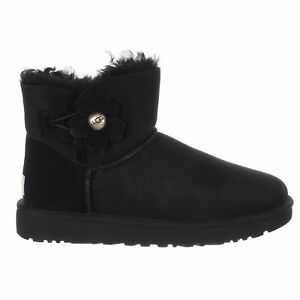 UGG Women's Mini Bailey Button Poppy Snow Boots With Credit Card Sale Online Outlet Comfortable Discount Low Shipping Official Site Online Discount Big Discount aSOoX