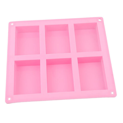 Cake Mold Soap Mold 6-Cavity Rectangle Mold Silicone For Candy Chocolate CF