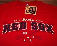 Vintage Style Majestic Boston Red Sox Championships Baseball T-shirt Large
