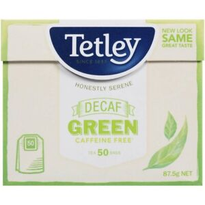 Tetley Decaffeinated Green Tea Bags 50 pack 87.5g