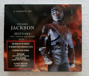 HIStory-Book-I-Michael-Jackson-52-Pages-Booklet-Malaysia-2-Cassette-Limited-Rare