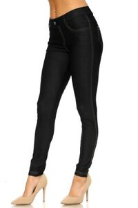 Stretchy-Leggings-Jeggings-Pants-Women-039-s-Ladies-Skinny-Full-Length-Jean-Denim
