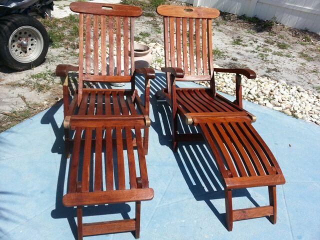 Astounding Steamer Outdoor Folding Teak Chaise Lounge Chair Theyellowbook Wood Chair Design Ideas Theyellowbookinfo