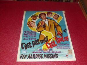 Cinema Plakat Original Belgisches C'Est Non Moi C' Est L'Autre Fernand Raynaud