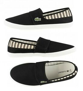 Lacoste-Marice-219-Men-039-s-Croc-Logo-Casual-Slip-On-Loafer-shoes-Sneakers-Black