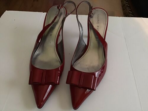 Marc Fisher Red Patent Leather Heels 11M