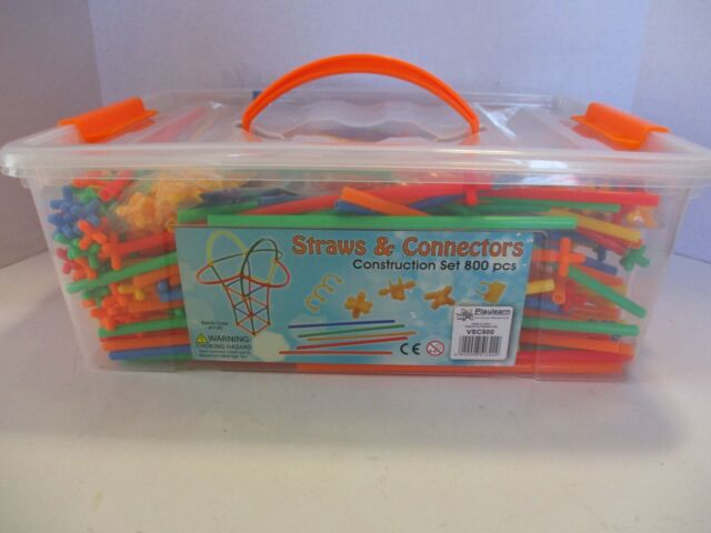 *NEW* Playlearn Large 800-Piece Straws and Connectors Set Building Construction
